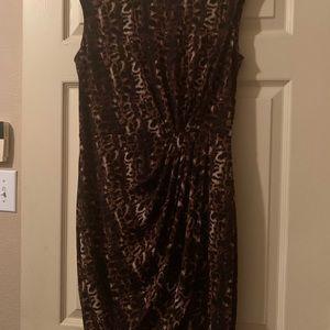 Calvin Klein Cheetah print dress